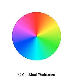 Gradient rainbow circle design