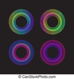 rainbow circle sunburst