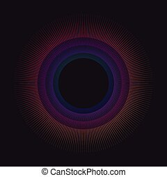 Gradient rainbow circle vector