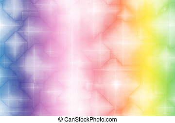Gradient Rainbow Magical Fantasy Abstract Background