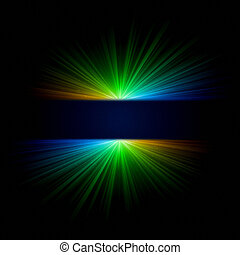 abstract gradient ray lights over dark background
