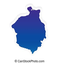 gradient Romania map- vector illustration