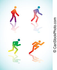 Gradient Running Pictograms - Running Pictograms With...