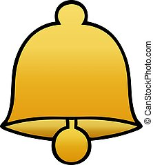 gradient shaded cartoon brass bell