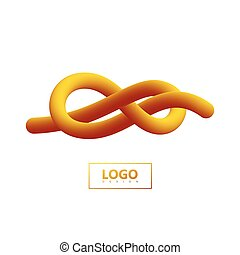 Gradient shape logo. - Abstract 3d knotted gradient shape....