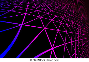gradient silhouette hexagonal grid pattern