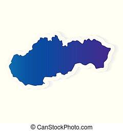 gradient Slovakia map- vector illustration