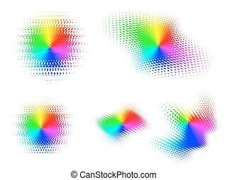 gradient, spectre, illusion, radial