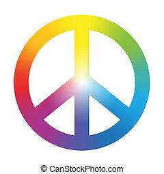 gradient, symbole arc-en-ciel, paix