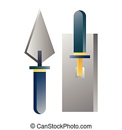 gradient, truelle, illustration