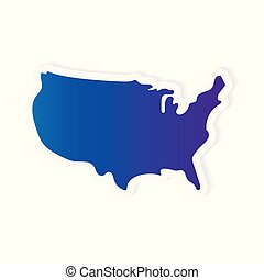 gradient United States map- vector illustration