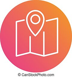 Gradient vector colorful interface location pin circle icon