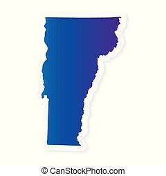 gradient Vermont map- vector illustration