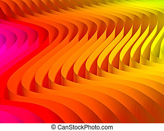 gradient waved background