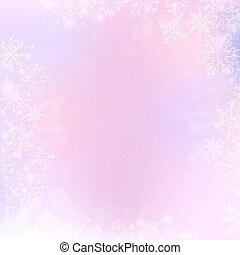 Gradient winter square banner background with snowflake