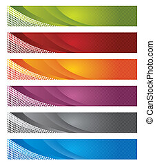 gradiente, banderas, digital, líneas, y
