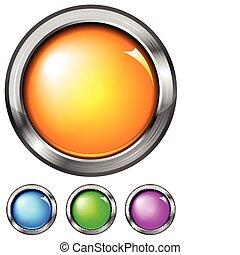gradiente, botões, jogo, (no, mesh)