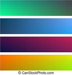 gradiente, color, diferente, banderas