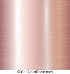 gradiente, de, rosa, ouro