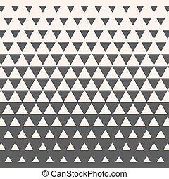 gradiente, geométrico, triangles., mitad, vector, tono, ...
