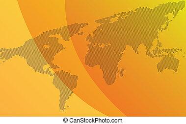 gradiente, plano de fondo, con, mapa mundo