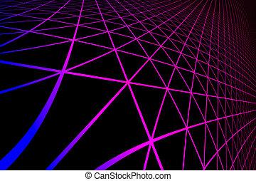 gradiente, silueta, hexagonal, cuadrícula la configuración