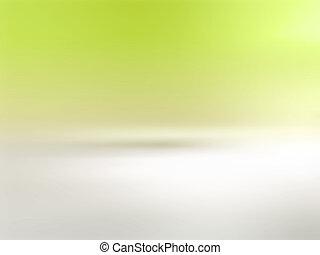 gradiente, suave, fondo verde