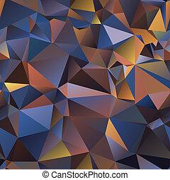 gradiente, volumen, triangle., ilusión