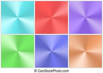 gradients, conico, collezione, variopinto