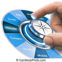 grado, comunicación, digital, mercadotecnia, estrategias, entrenamiento, 360