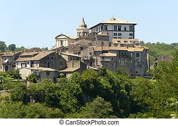 View of Gradoli, old town near Viterbo (Lazio, Italy) at summer