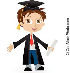 gradué, garçon