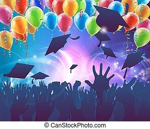 graduação, celebração, partido
