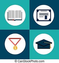 graduação, conceito, desenho