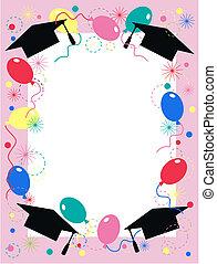 graduação, convite, celebração