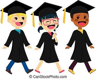graduação, crianças, diversidade