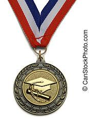 graduação, medalha
