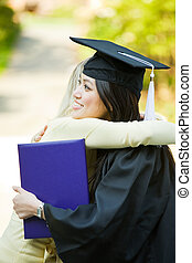 graduação, menina