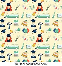 graduação, padrão, elementos, seamless, fundo