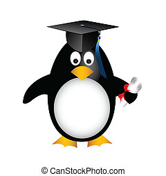 graduação, pingüim