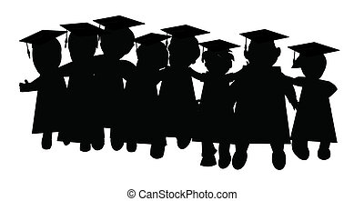 graduación, clase, de, amigos