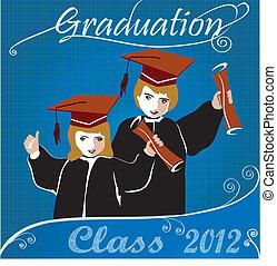 graduación, class2012, invitación