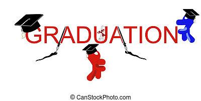 graduación, con, estilo