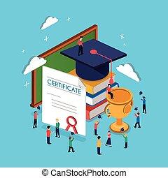 graduación, concepto