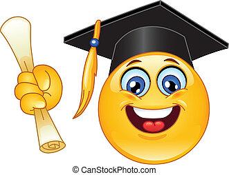 graduación, emoticon