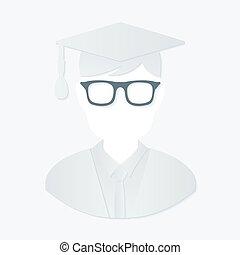 graduación, hombre