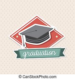 graduación, icono