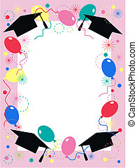 graduación, invitación, celebración