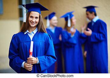 graduación, niña
