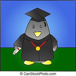 graduación, pingüino